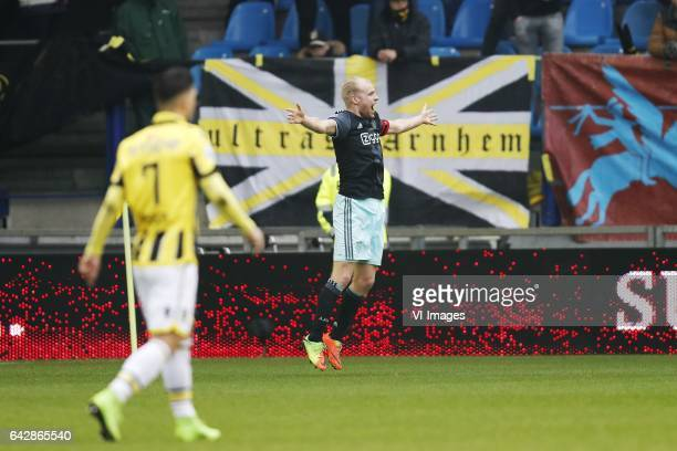 Milot Rashica of Vitesse Davy Klaassen of Ajaxduring the Dutch Eredivisie match between Vitesse Arnhem and Ajax Amsterdam at Gelredome on February 19...