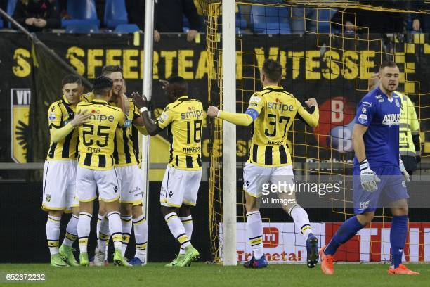 Milot Rashica of Vitesse Navarone Foor of Vitesse Ricky van Wolfswinkel of Vitesse Mitchell van Bergen of Vitesse Guram Kashia of Vitesse Roy...