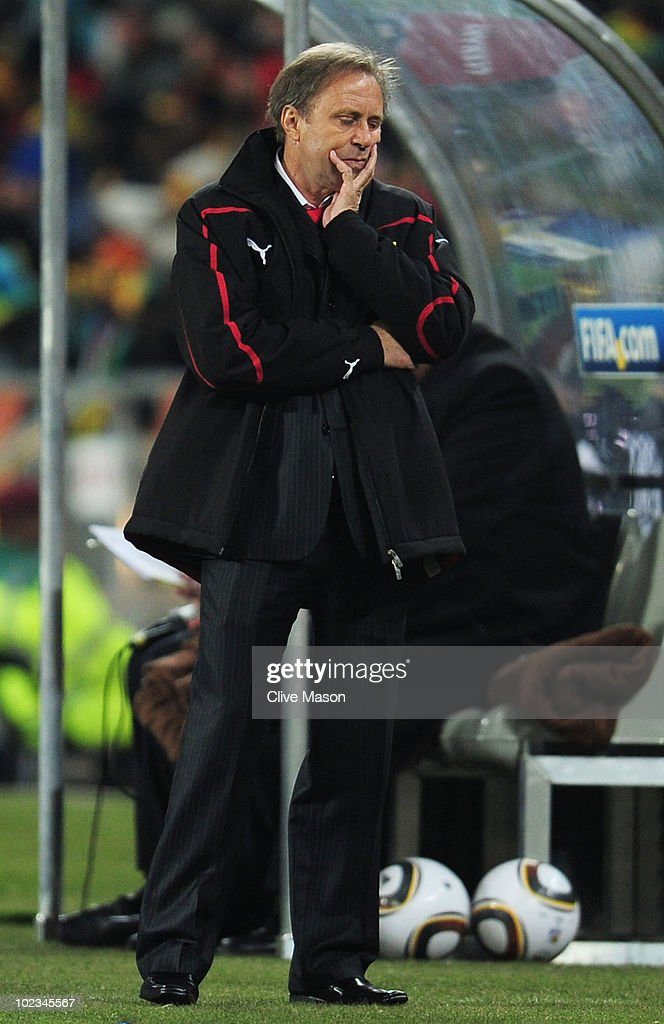 Milovan Rajevac head coach of Ghana looks dejected during the 2010... News  Photo - Getty Images