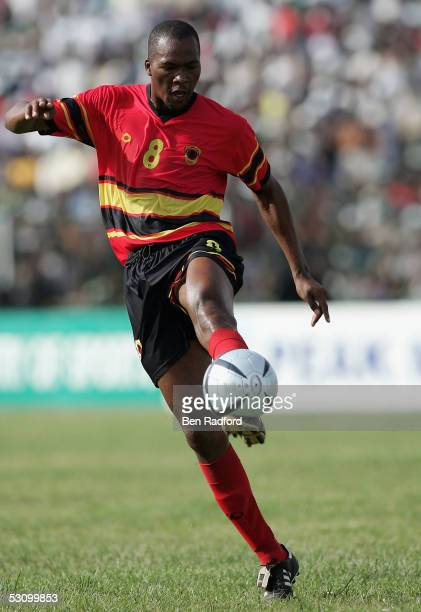 Miloy of Angola during the 2006 World Cup Qualifying match between Nigeria and Angola at the Sany Abacha Stadium on June 18 in Kano Nigeria