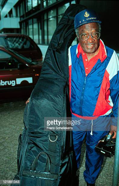 Milt Hinton posed at the North Sea Jazz Festival in The Hague, Netherlands on July 11 1991