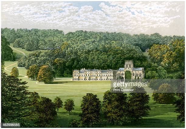Milton Abbey Dorset home of Baron Hambro c1880 The house was built from 1780 onwards by Joseph Damer 1st Earl of Dorchester A print from A Series of...