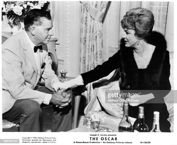 Milton Berle and Eleanor Parker in a scene from the film 'The Oscar' 1966