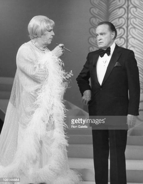 Milton Berle & Bob Hope during Milton Berle and Bob Hope at a Taping for a TV Special at NBC Studios in Burbank, California, United States.