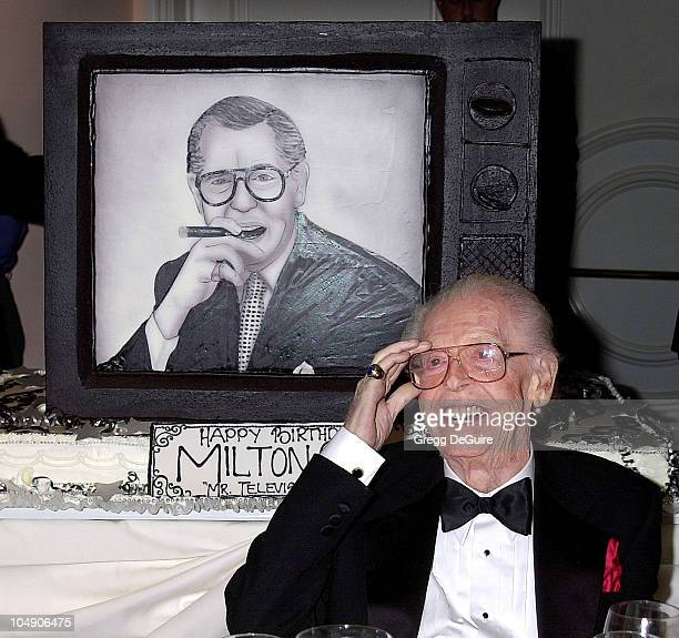 Milton Berle during Milton Berle's 93rd Birthday Celebration at Beverly Hills Hotel in Beverly Hills, California, United States.