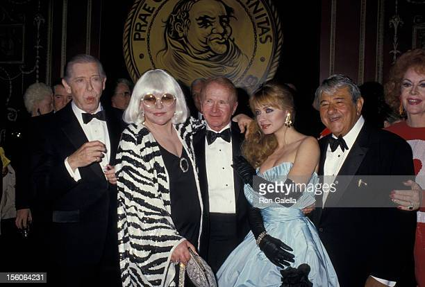 Milton Berle Peggy Lee Red Buttons Andrea Evans Buddy Hackett Guest at Red Buttons Friars Tribute undated file photo CRAnthony Savignano/Ron Galella...