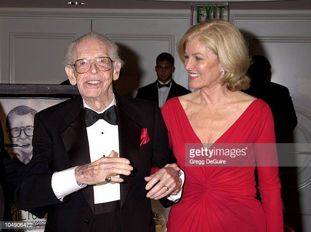 Milton Berle & wife Lorna during Milton Berle's 93rd Birthday Celebration at Beverly Hills Hotel in Beverly Hills, California, United States.