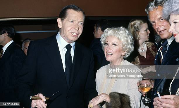 Milton Berle with Phyllis Diller attending Beverly Hills socialite hostess Diane Abramson's party, to welcome French clothes designer Ted Lapidus to...