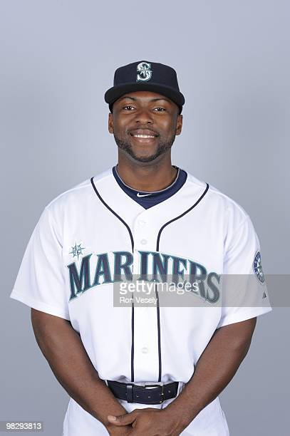 Milton Bradley of the Seattle Mariners poses during Photo Day on Thursday February 25 2010 at Peoria Sports Complex in Peoria Arizona