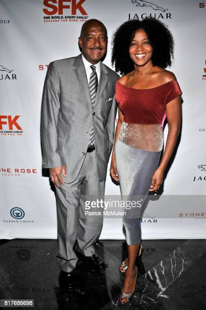 Milton C Brinkley and Ghylian Bell attend Success for Kids SFK NY Young Leadership Cocktail Reception at Stone Rose Lounge on October 19 2010 in New...