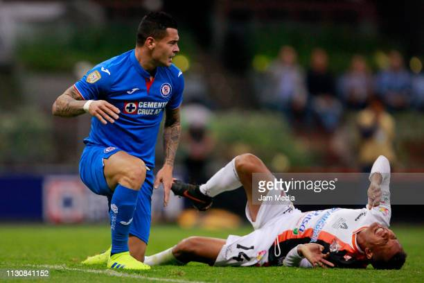 Milton Caraglio of Cruz Azul during a match between Cruz Azul and Alebrijes as part of the Copa MX Clausura 2019 at Azteca Stadium on February 19...