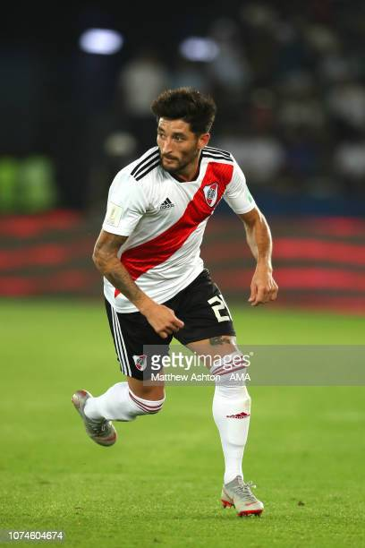 Milton Casco of River Plate in action during the FIFA Club World Cup UAE third place match between Kashima Antlers and River Plate at Sheikh Zayed...