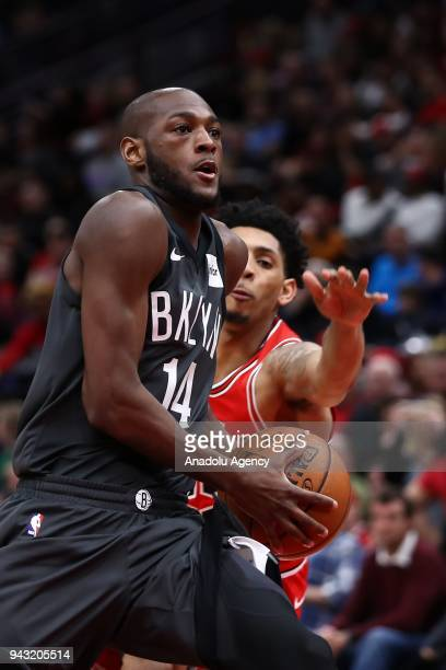 Milton Doyle of Brooklyn Nets in action during the NBA game between Brooklyn Nets and Chicago Bulls at the United Center in Chicago Illinois United...