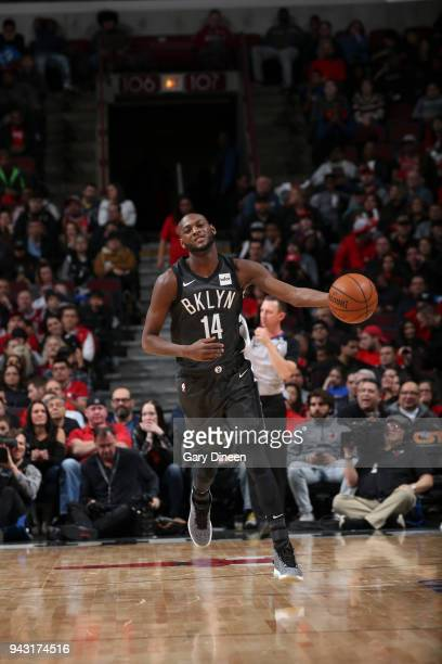 Milton Doyle of the Brooklyn Nets handles the ball against the Chicago Bulls on April 7 2018 at the United Center in Chicago Illinois NOTE TO USER...