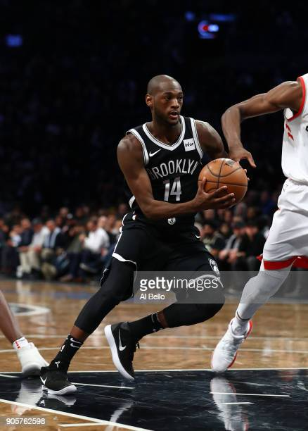 Milton Doyle of the Brooklyn Nets in action against the Toronto Raptors during their game at Barclays Center on January 8 2018 in New York City