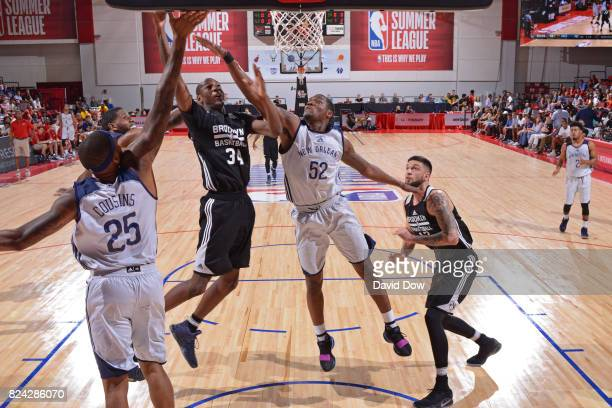 Milton Doyle of the Brooklyn Nets shoots a lay up during the game against the Brooklyn Nets during the 2017 Las Vegas Summer League on July 10 2017...