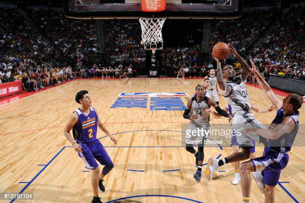 Milton Doyle of the Brooklyn Nets shoots the ball during the game against the Los Angeles Lakers during the Quarterfinals of the 2017 Las Vegas...