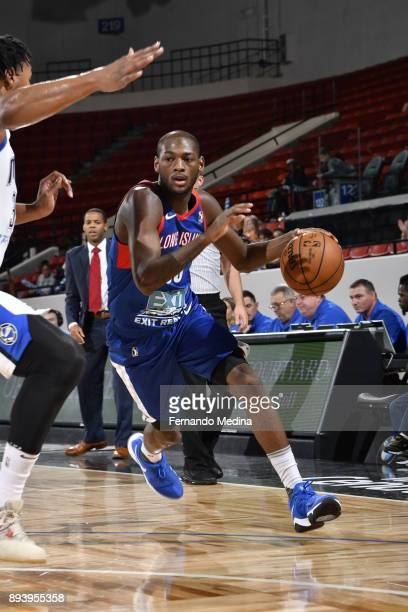 Milton Doyle of the Long Island Nets dribbles against the Lakeland Magic during the game on December 16 2017 at RP Funding Center in Lakeland Florida...