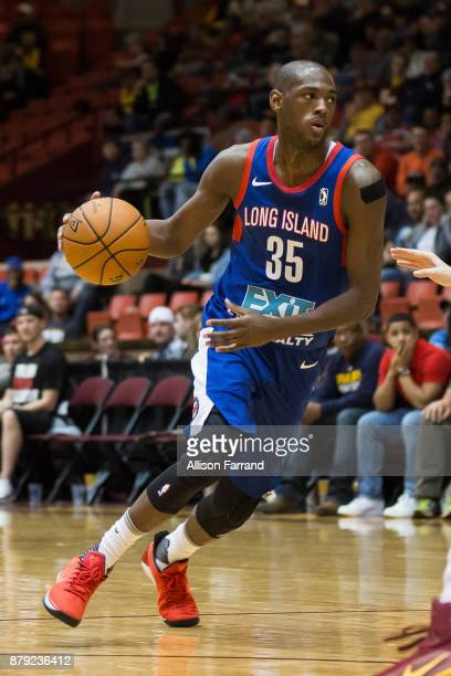 Milton Doyle of the Long Island Nets handles the ball against the Canton Charge on November 25 2017 at the Canton Memorial Civic Center in Canton...