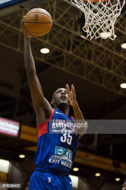 Milton Doyle of the Long Island Nets shoots the ball against the Canton Charge on November 25 2017 at the Canton Memorial Civic Center in Canton Ohio...