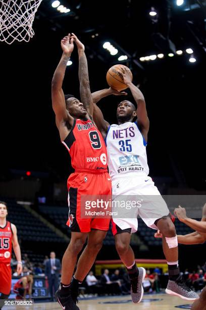Milton Doyle of the Long Island Nets shoots the ball against Windy City Bulls during an NBA GLeague game on March 2 2018 at NYCB Live home of Nassau...