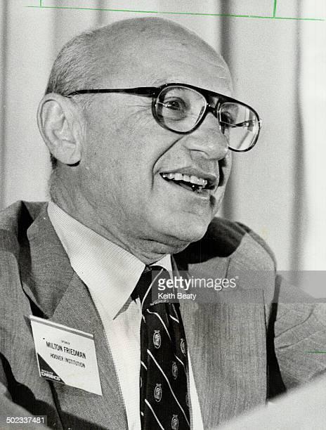 Milton Friedman: Nobel prize-winning American economist is a key adviser to Thatcher.