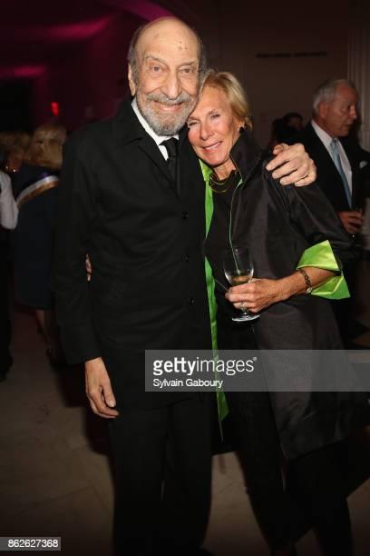 Milton Glaser and Amanda Urban attend Museum of the City of New York honors Gloria Steinem Whoopi Goldberg Michiko Kakutani on October 17 2017 in New...