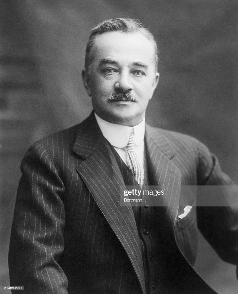 Portrait of Milton S. Hershey the Chocolate King : News Photo