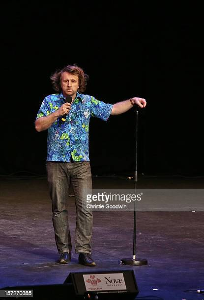 Milton Jones performs on stage as part of the The Prince's Trust comedy gala We Are Most Amused at Royal Albert Hall on November 28 2012 in London...