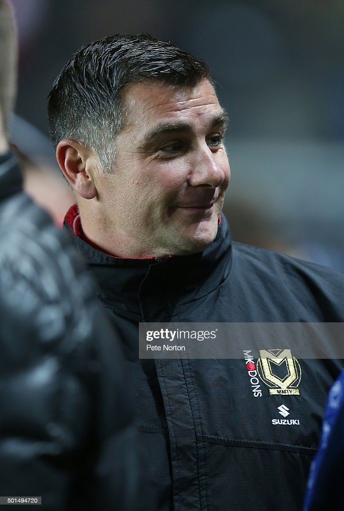 Milton Keynes Dons assistant manager Richie Barker looks on prior to the Sky Bet Championship match between Milton Keynes Dons and Sheffield Wednesday at stadium:mk on December 15, 2015 in Milton Keynes, United Kingdom.