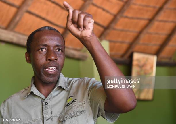 Milton Khachana one of the photographic safari operator explains about the effect of the elephant hunting ban lift in Botswana on May 30 2019 in...