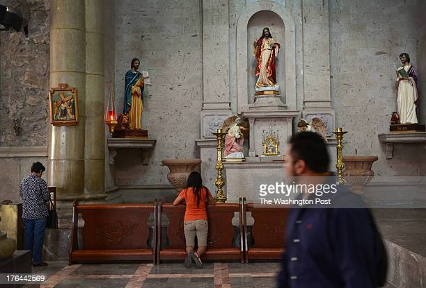 Milton Tepeyac at the Parroquia Nuestra Senora de Fatima church where he attends in Hermosillo Mexico on July 22 2013 Tepeyac is a former US Marine...