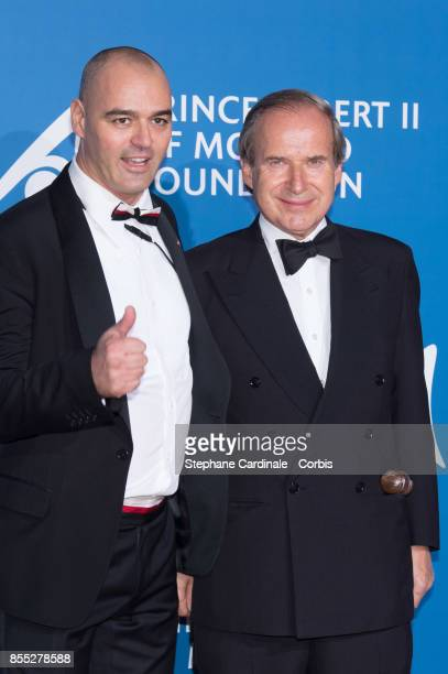 Milutin Gatsby and Simon De Pury attend the Inaugural 'MonteCarlo Gala For The Global Ocean' Honoring Leonardo DiCaprio at The Monaco Garnier Opera...