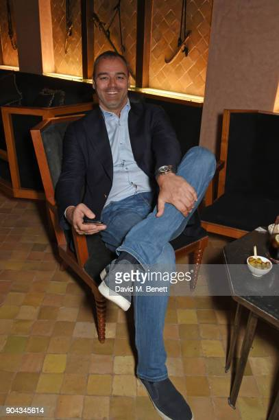 Milutin Gatsby attends Orlando Bloom's birthday party with ABB FIA Formula E Championship at Hotel Amanjena on January 12 2018 in Marrakech Morocco