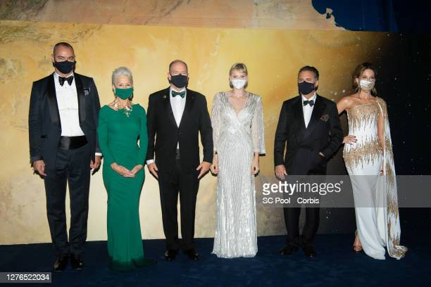 Milutin Gatsby, Helen Mirren, Prince Albert II of Monaco, Princess Charlene of Monaco, Andy Garcia and Kate Beckinsale attend the Monte-Carlo Gala...