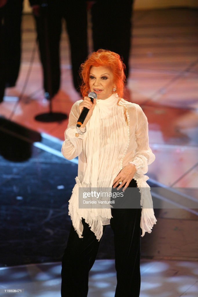 Milva during 57th San Remo Music Festival - Inaugural Evening at Teatro Ariston in Sanremo, Italy.