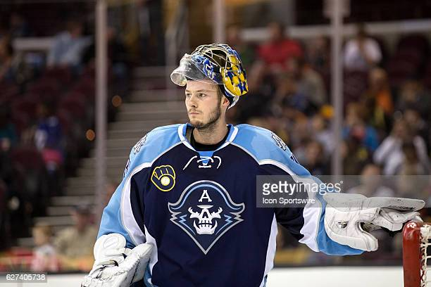 Milwaukee Admirals G Marek Mazanec during the second period of the AHL hockey game between the Milwaukee Admirals and Cleveland Monsters on December...