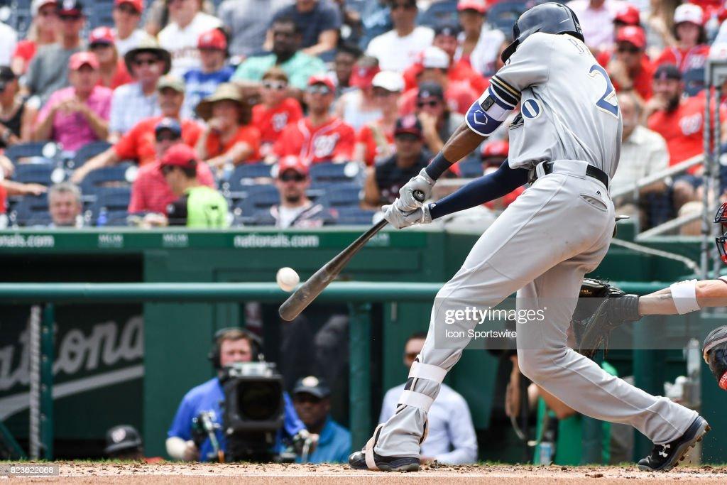 MLB: JUL 27 Brewers at Nationals : News Photo