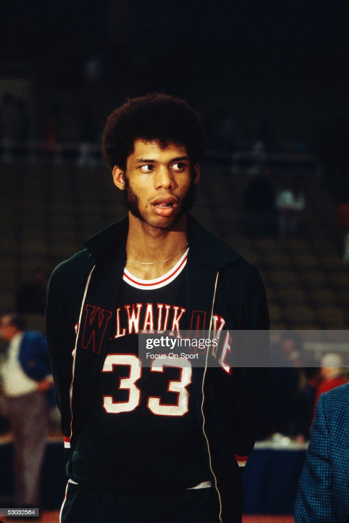 sale retailer ef259 f033d Milwaukee Bucks' center Lew Alcindor walks on the court ...