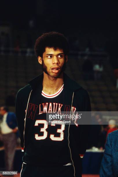 Milwaukee Bucks' center Lew Alcindor walks on the court before a game NOTE TO USER User expressly acknowledges and agrees that by downloading and or...