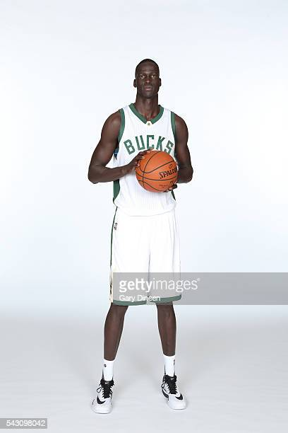 Milwaukee Bucks draft pick Thon Maker poses for a portrait at the Orthopaedic Hospital of Wisconsin Training Center on June 24 2016 in St Francis...