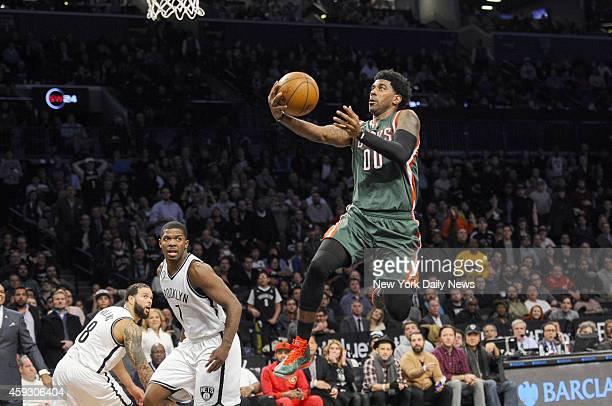 Milwaukee Bucks guard OJ Mayo 4th quarter Nets lose 122118 in triple overtime Brooklyn Nets vs Milwaukee Bucks at Barclay Center Brooklyn NY November...