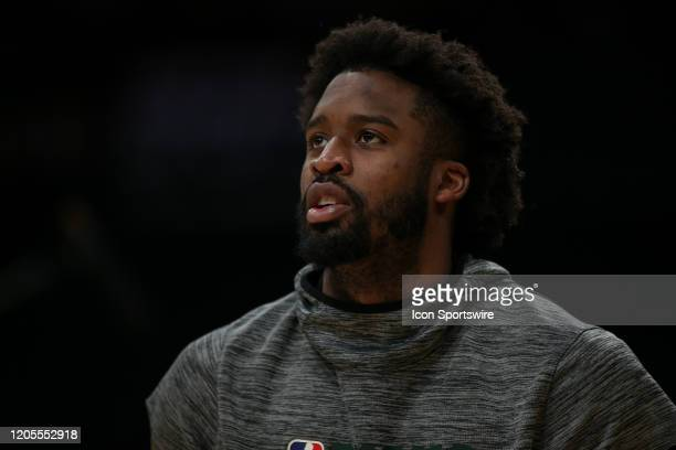 Milwaukee Bucks guard Wesley Matthews before the Milwaukee Bucks vs Los Angeles Lakers game on March 06 at Staples Center in Los Angeles CA