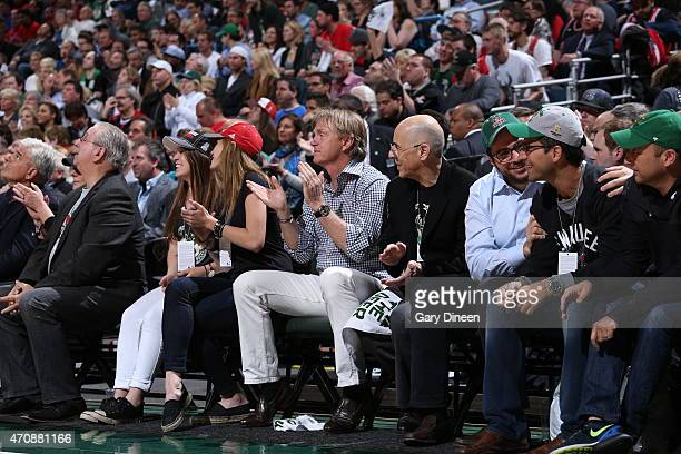 Milwaukee Bucks owner Wes Edens attends Game Three of the Eastern Conference Quarterfinals during the 2015 NBA Playoffs on April 23 2015 at the BMO...