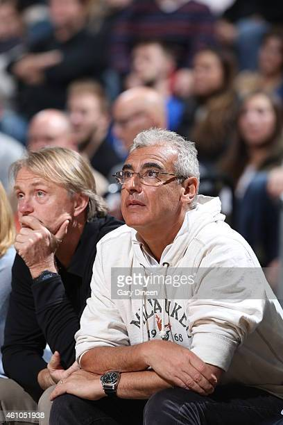 Milwaukee Bucks owners Wes Edens and Marc Lasry on January 2 2015 at the BMO Harris Bradley Center in Milwaukee Wisconsin NOTE TO USER User expressly...