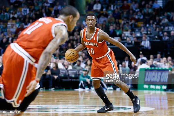 Milwaukee Bucks shooting guard Doron Lamb looks to pass the ball during the Milwaukee Bucks 9994 overtime victory over the Boston Celtics at TD...
