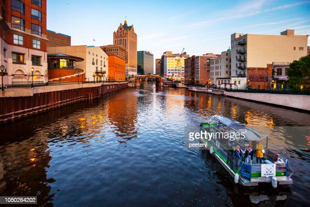milwaukee downtown - milwaukee stock pictures, royalty-free photos & images