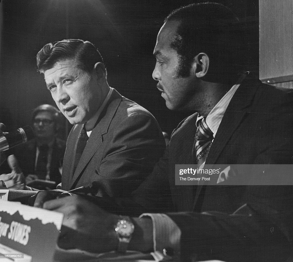 JUN 17 1970; Milwaukee Mayor Henry Maier, left, chats with cleveland's Carl stokes; At a joint press : News Photo