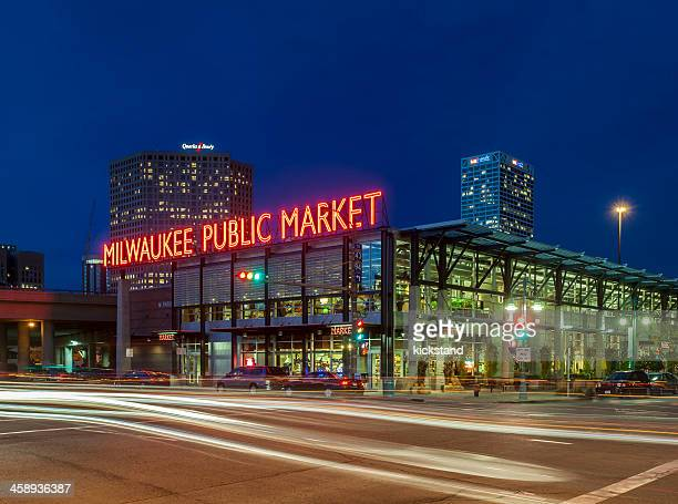 milwaukee public market - milwaukee stock pictures, royalty-free photos & images