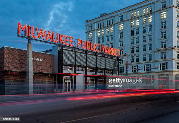milwaukee public market - milwaukee wisconsin stock photos and pictures